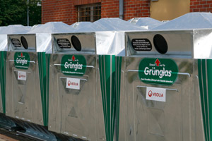 Neue Gr�nglascontainer, Depotcontainer, System Grumbach